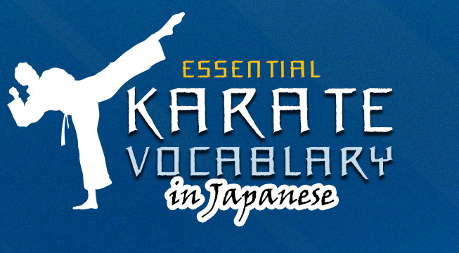 learn karate terms in Japanese