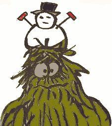 Yuki otoko the abominable snowman in Japanese